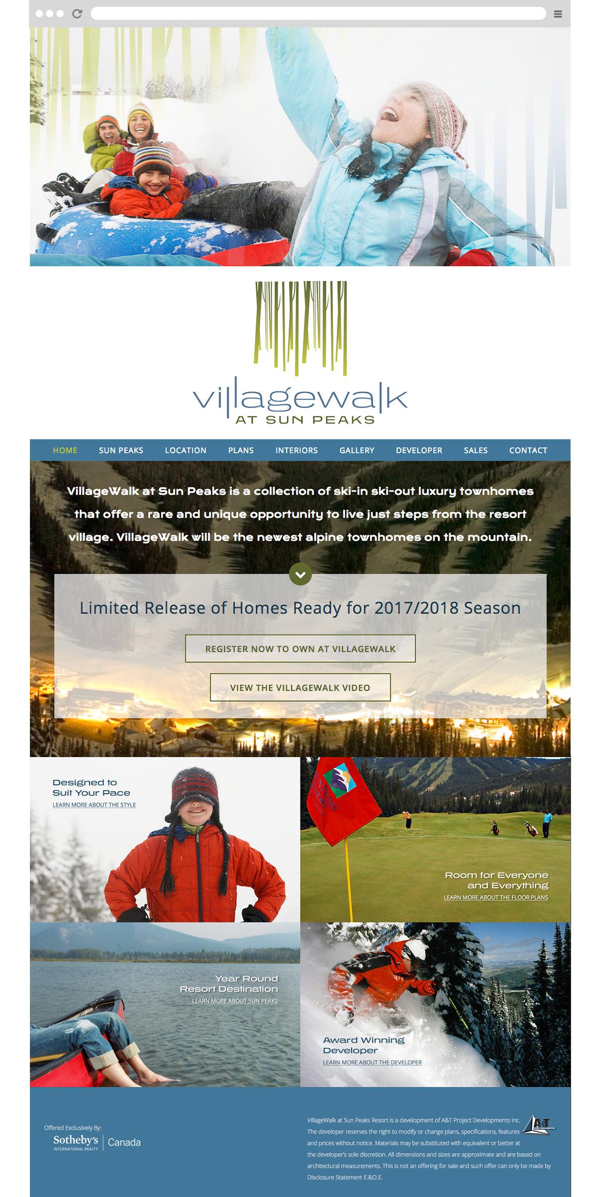 Villagewalk at Sun Peaks website